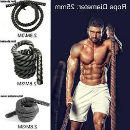 10ft 25mm Heavy Weighted Jump Skipping Ropes Battle Muscle T