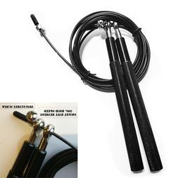 10ft Steel Wire Speed Jump Rope Aerobic Weighted Exercise Sk