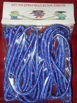 2-16 FT DOUBLE DUTCH JUMP ROPES-LONG-SPEED-BLUE-SCHOOL-CLOTH