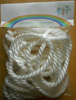 2-16 FT DOUBLE DUTCH JUMP ROPES-LONG-SPEED-WHITE-SCHOOL-CLOT