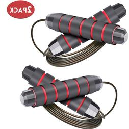 2 Jump Ropes - Speed Skipping Rope Tangle Free Jumping Worko