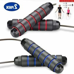 2 Pack Jump Rope Adjustable Jumping Ropes with Foam Handles