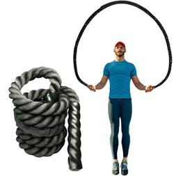 25mm Fitness Heavy Jump Rope Crossfit Weighted Battle Skippi