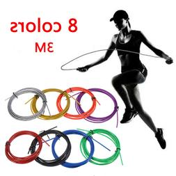 3M 8 color Jumping Rope Replaceable Wire Speed Jump Skipping