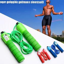 3x Fitness Adjustable Adult Kids Counting Jump Skipping Rope