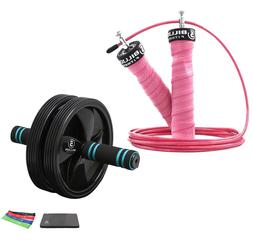5BILLION Ab Wheel and Speed Jump Rope Fitness Equipment Kit