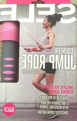 SELF 9' Adjustable Length JUMP ROPE Counts Every Jump to 999