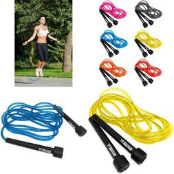 Garage Fit 9' Adjustable Pvc Jump Rope For Cardio Fitness -
