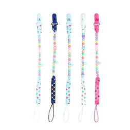 Pacifier Clip | 5 Pack Baby Pacifier Chain Teething Ring Hol