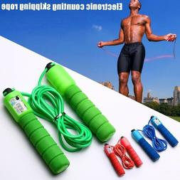 Adjustable Counting Jump Skipping Rope Sports Fitness Exerci