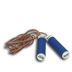 All Pro Weight Adjustable Weight-To-Jump Leather Jump Rope,