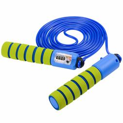 Adjustable Jump Rope with Counter and Comfortable Handles fo