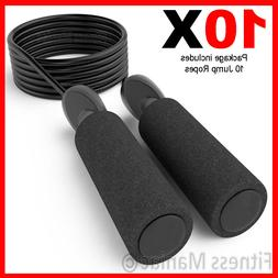 5X Adjustable Jump Ropes 10ft Black Speed Rope Bulk Wholesal