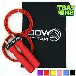 WOD Nation  Adjustable Skipping Jump Rope 2 Cable Workout Ae