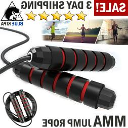 COOROPE Aerobic Exercise Boxing Skipping Jump Rope Adjustabl