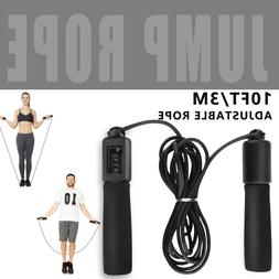 Ajustable Skipping Rope Exercise With Counter Bearing Speed