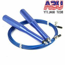 Aluminum Handle Speed Skipping Jump Rope Adjustable Cable Bo