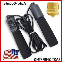 Auto-Counter Adjustable Jump Rope Skipping Aerobic Speed Exe