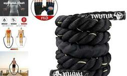 AUTUWT Heavy Jump Rope Skipping Rope Workout Battle Ropes wi