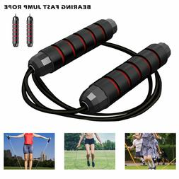 Ball Bearings Steel Cable Skipping Rope Speed Jump Skip Boxi