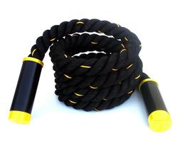 Battle Rope Jump Rope 2 inch with Swivel Bearing Handles