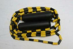 beaded jump rope 6768 black and yellow