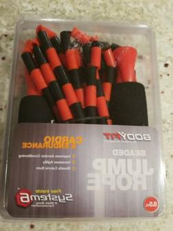 BodyFit Beaded Jump Rope BY SPORTS AUTHORITY 8 1/2 ft. Long.