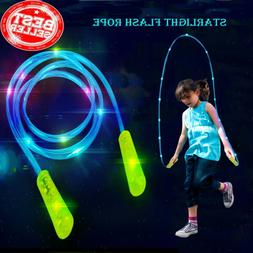 Blue LED Skipping Rope Light Up Jump Rope Flashing Color Cha