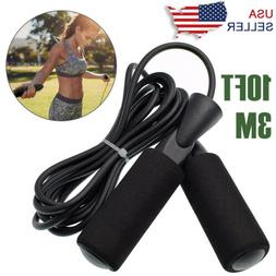 Boxing Jump Rope Adjustable Length Gym Aerobic Exercise Spee