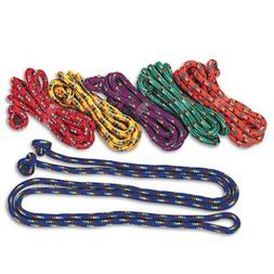Braided Nylon Jump Ropes, 8ft, 6 Assorted-Color Jump Ropes/S