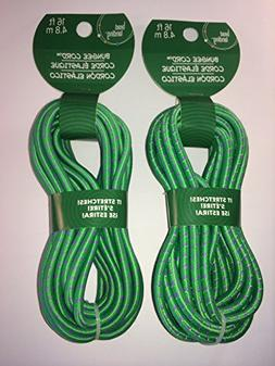 "Bungee Cord 16 Ft  1/4""  Thick--Green & Purple"