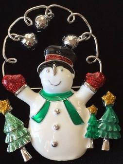 CHRISTMAS TREE DANGLING BELLS HAPPY FROSTY SNOWMAN JUMP ROPE