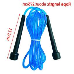 Durable PVC Fine Handle Speed Transparent Jump Rope Fitness
