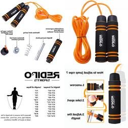 Exercise 1.4LB Jump Rope-Heavy Weighted Steel Handles Gym Fi