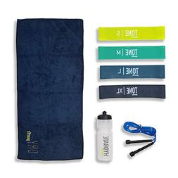 Gearrific Exercise Band Gift Set Includes Resistance Bands,