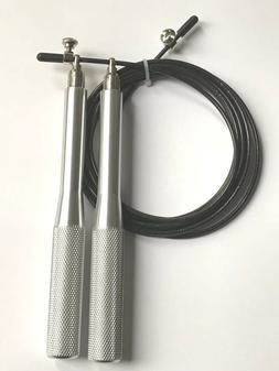 Fitking Cable Speed Jump Skip Rope 10' Adjustable Length, So