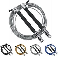 Fitness Adjustable Speed Skipping Jumping Rope Boxing Gym Cr
