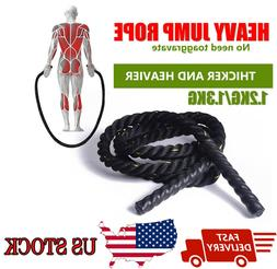 Fitness Heavy Jump Rope 25mm Weight Skipping Strength Crossf