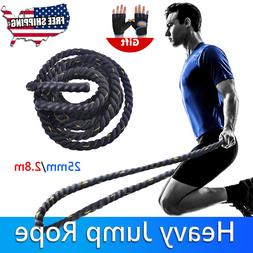 Fitness Heavy Jump Rope Skipping Battle Workout Ropes Power