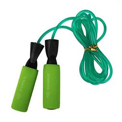 Fitness Training Jump Rope with Comfort Handle,Green