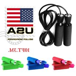 Gym Aerobic Exercise Boxing Skipping Jump Rope Adjustable Be