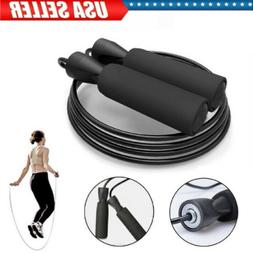 Gym Aerobic Speed Skipping Rope Adjustable Steel Cable Fitne