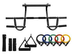 Wacces Heavy Duty Chin up Bar & Resistance Bands