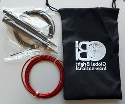 High Speed Jump Rope, Self-Locking, 2 Speed Rope Cables for