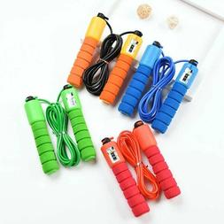 US!Home Sports Fitness Skipping Counting PVC Jump Rope Adjus
