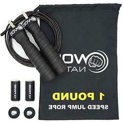 Jump Rope 1 Pound Adjustable Heavy Speed Rope Handles Remova