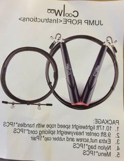 Jump Rope with 10ft Free Cable, Speed & Adjustable, Best for