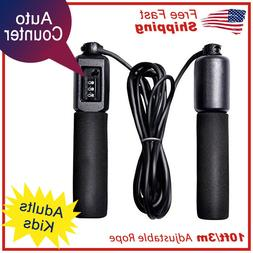 Jump Rope Counter Adjustable Bearing Speed Skipping Gym Fitn