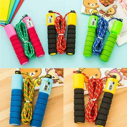 Jump Rope Counter Gym Fitness Exercise Skipping Fits Adults