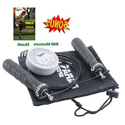 Jump Rope Crossfit by NARA Sport - Premium Quality - With du